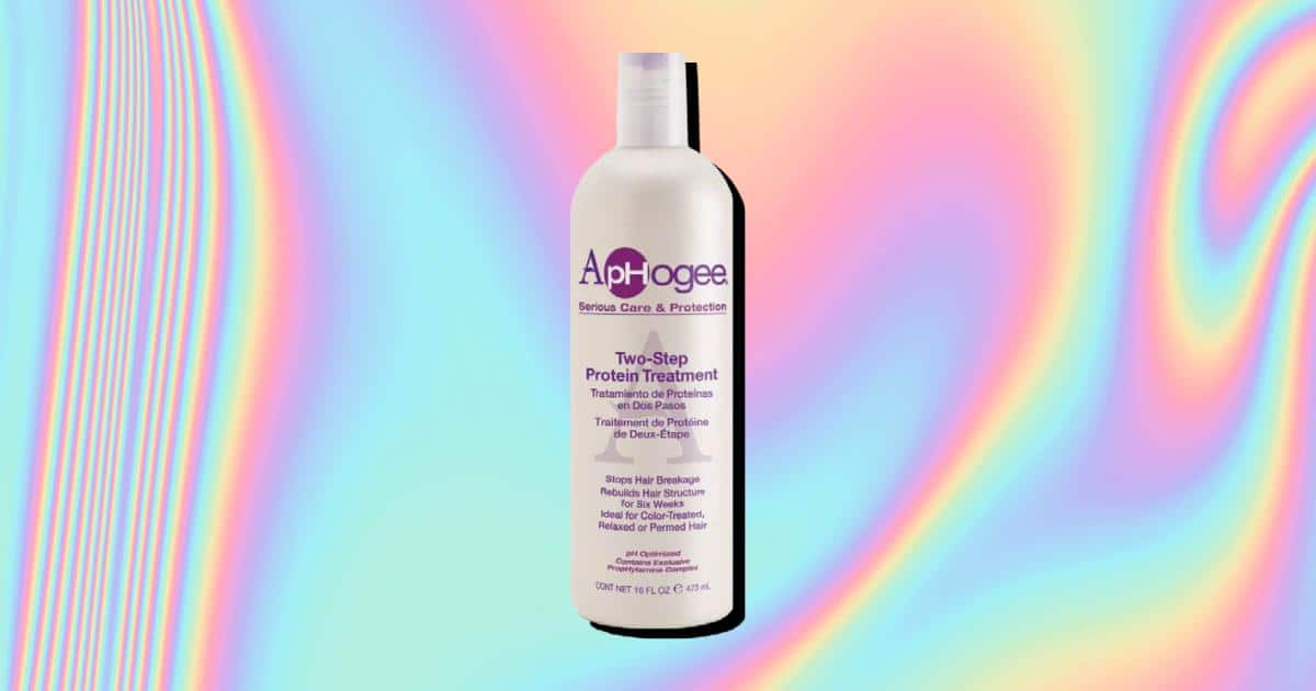 an image of aphogee two step protein treatment for natural hair