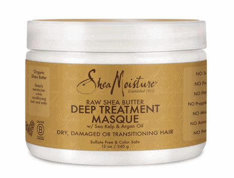 best products for Type 3 hair_shea moisture deep treatment masque