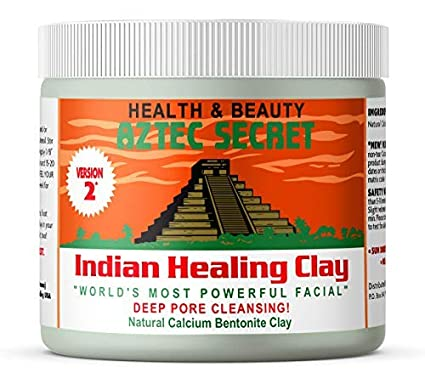 a photo showing the aztec indian healing clay for taking care of natural hair monthly