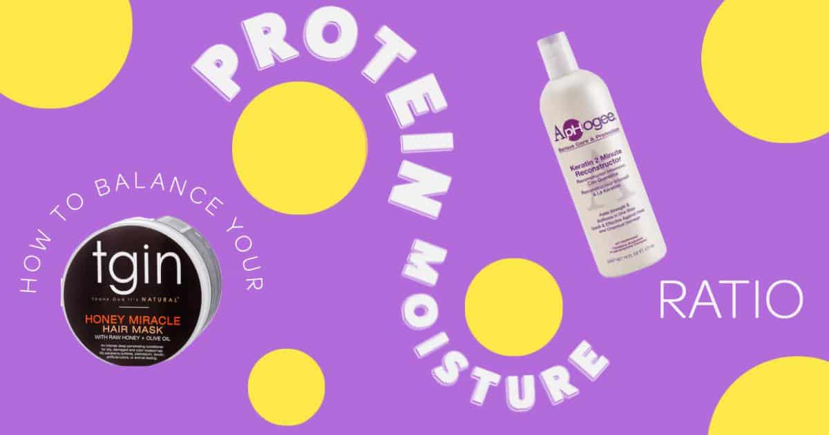 an image showing the protein moisture balance for natural hair