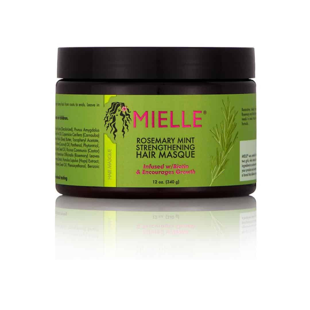 an image of the best products for fine type 4 natural hair_mielle rosemary mint hair masque