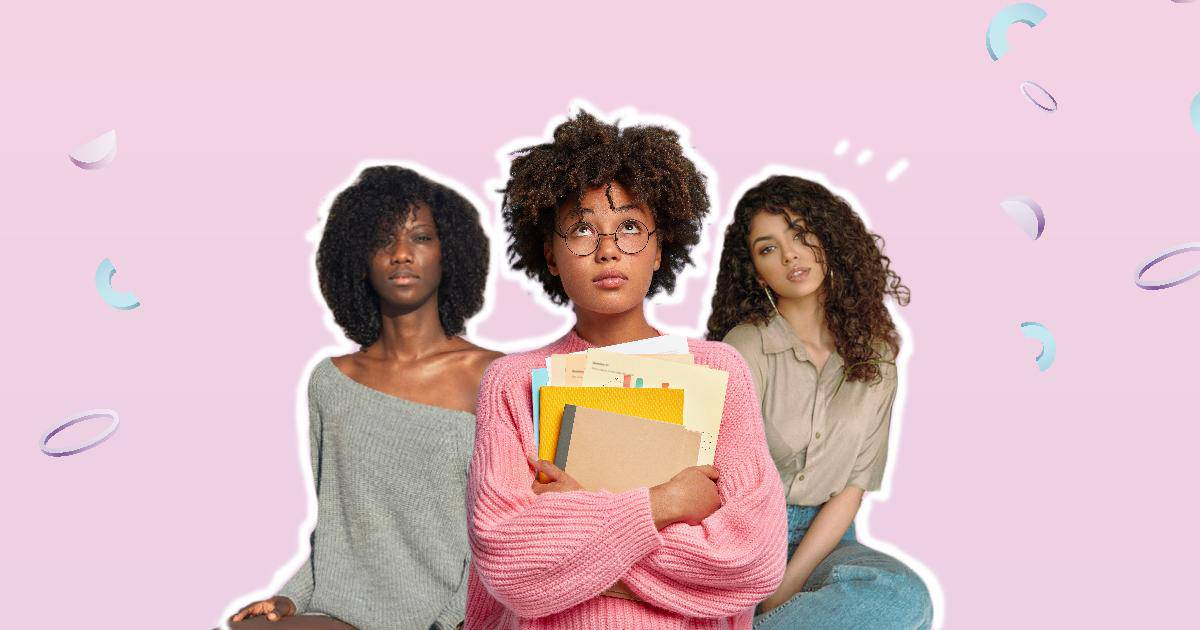 an image of 3 curly haired girls showing how to take care of type 3 hair