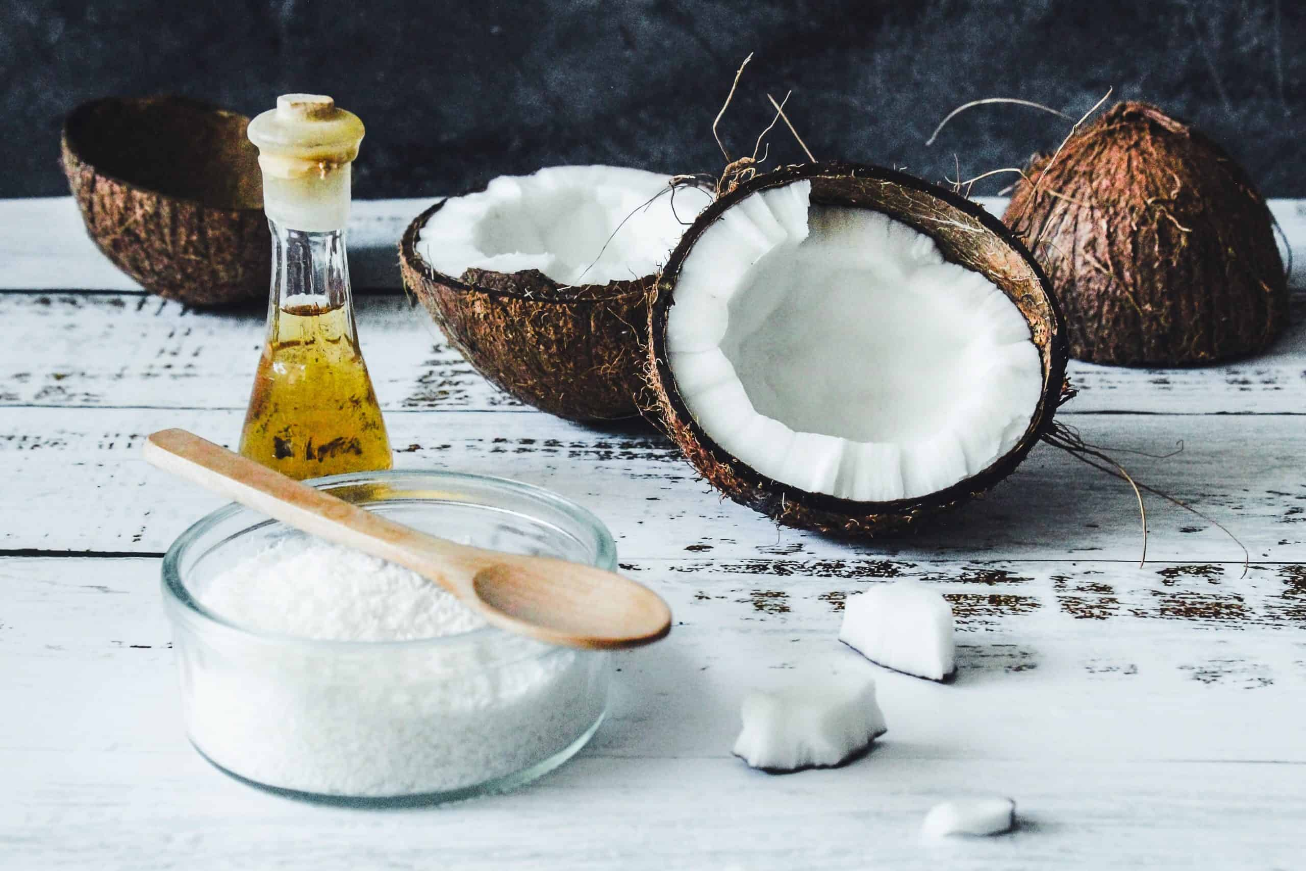 an image of a split open coconut