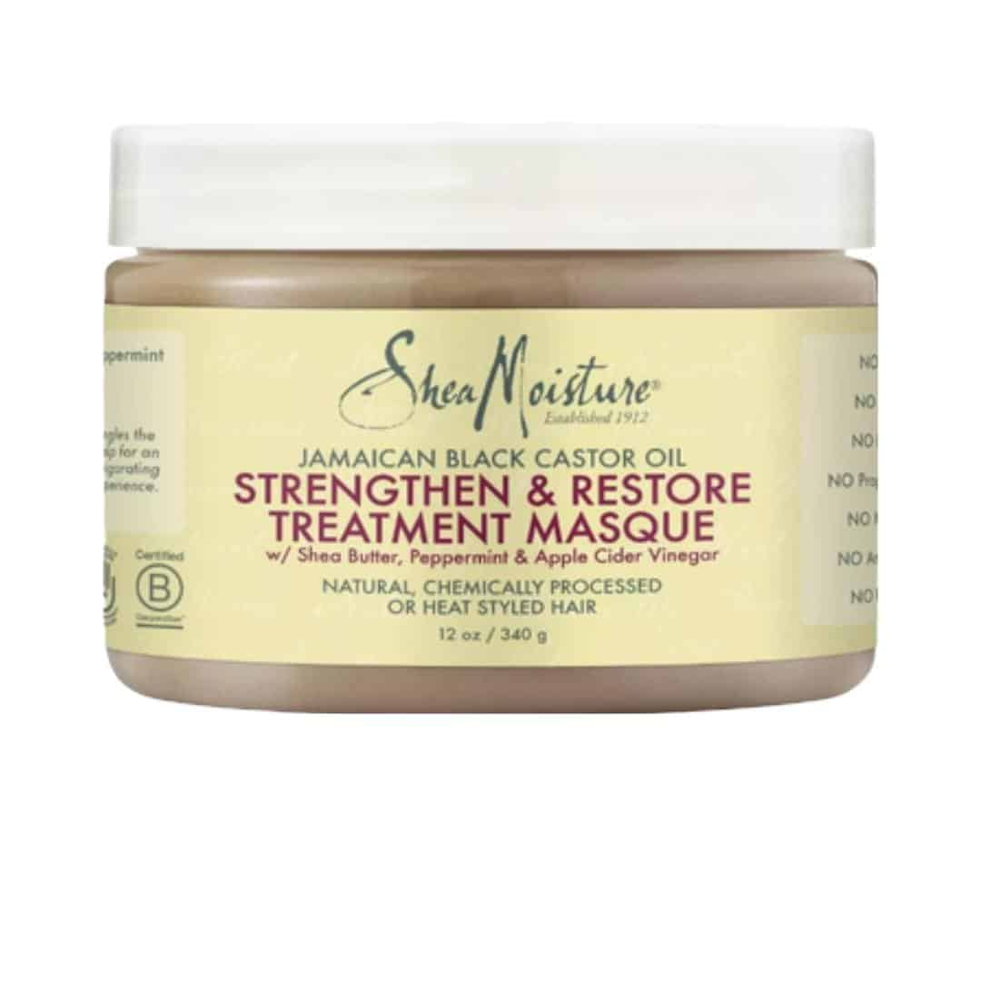 an image of shea moisture jamaican black castor oil strengthen & restore treatment masque