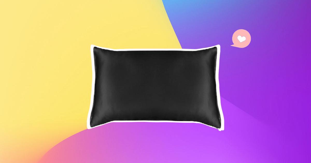 an image of a silk pillowcase for natural hair